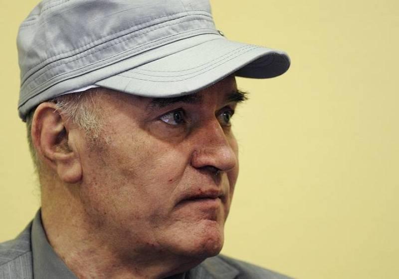 El exgeneral serbobosnio, Ratko Mladic, a su llegada al TPIY