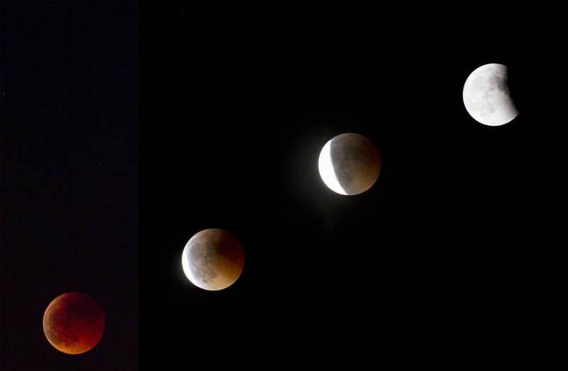 Secuencia de la fase final del eclipse visto desde Palma de Mallorca