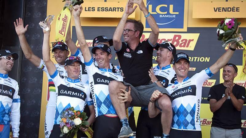 El Garmin se impuso en la contrarreloj por equipos de la segunda jornada del Tour.