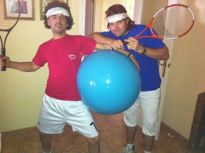 Final Roland Garros 2011. Se suponen que son Nadal y Federer.