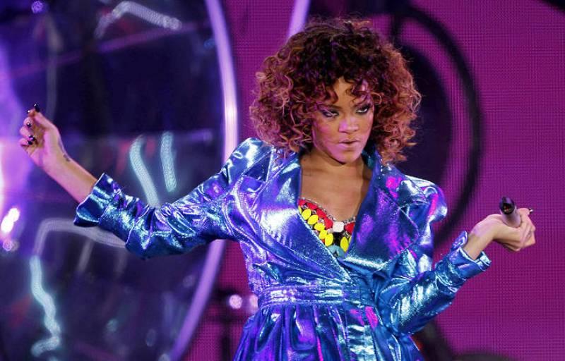 La cantante caribeña en una instantánea tomada durante su concierto