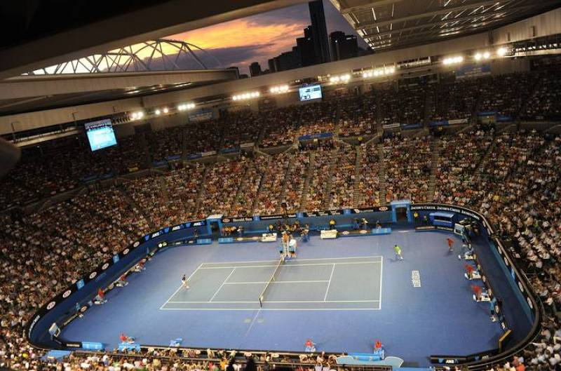 Aspecto general de la pista central de Melbourne, la Rod Laver Arena