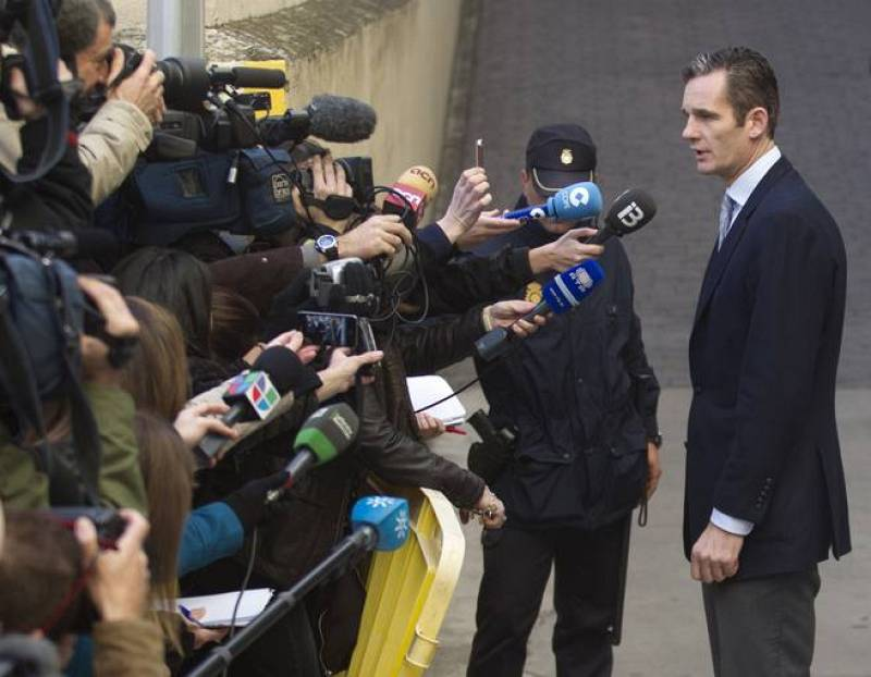 Urdangarin llega a los juzgados de Palma