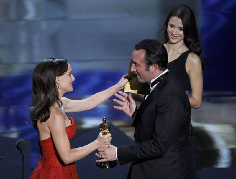 Jean Dujardin en la gala de los Oscars 2012