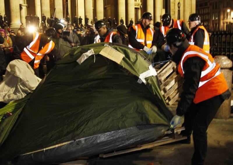 La policía desmantela el campamento de San Pablo