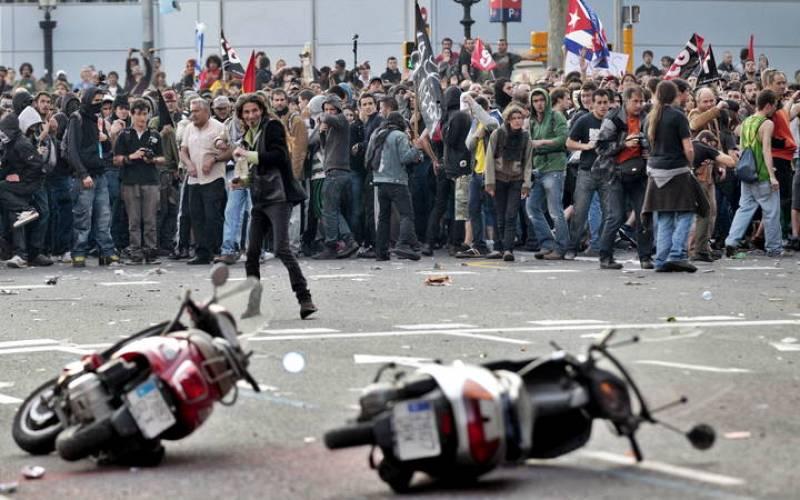 Disturbios en Barcelona durante el 29M