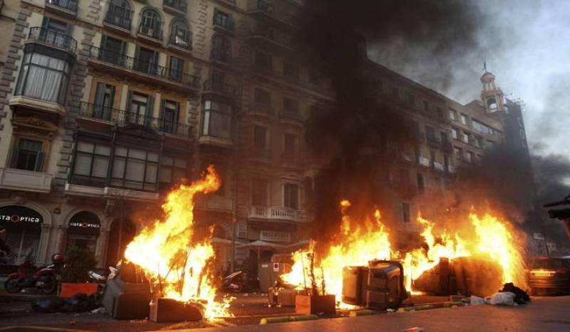 Disturbios en Barcelona el 29M