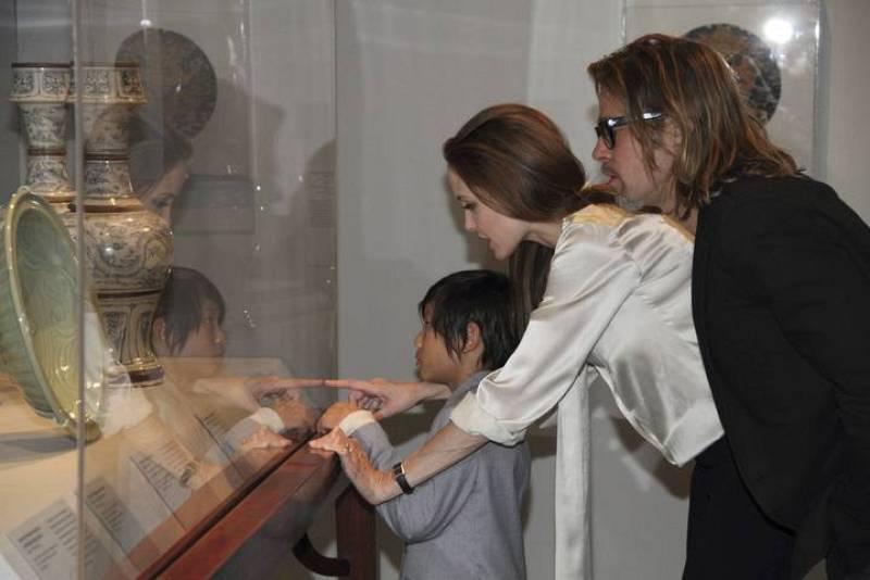 Gente y Tendencias - Brangelina en el Museo de Arte Chino