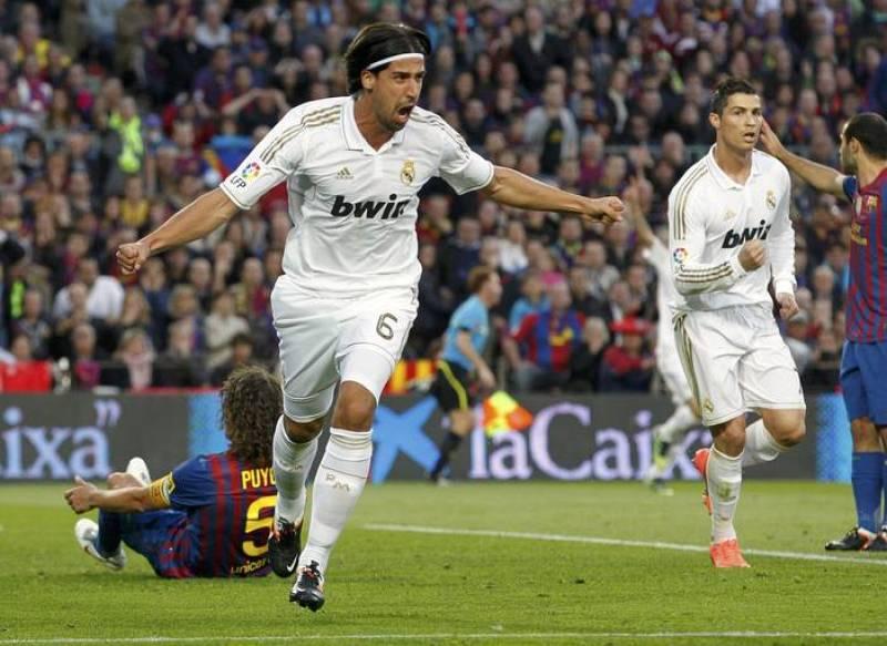 Sami Khedira celebra el gol del Real Madrid