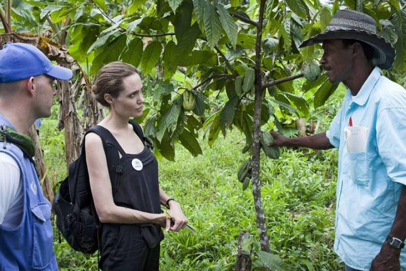 Angelina Jolie trabaja para ACNUR