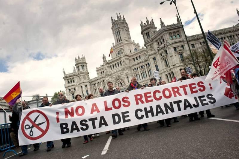 PROTESTA CONTRA LOS RECORTES DEL GOBIERNO