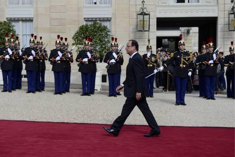 Francois Hollande, a su llegada al Palacio del Elíseo