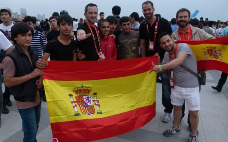 Fans españoles y azeríes unidos por una misma pasión: Pastora Soler.