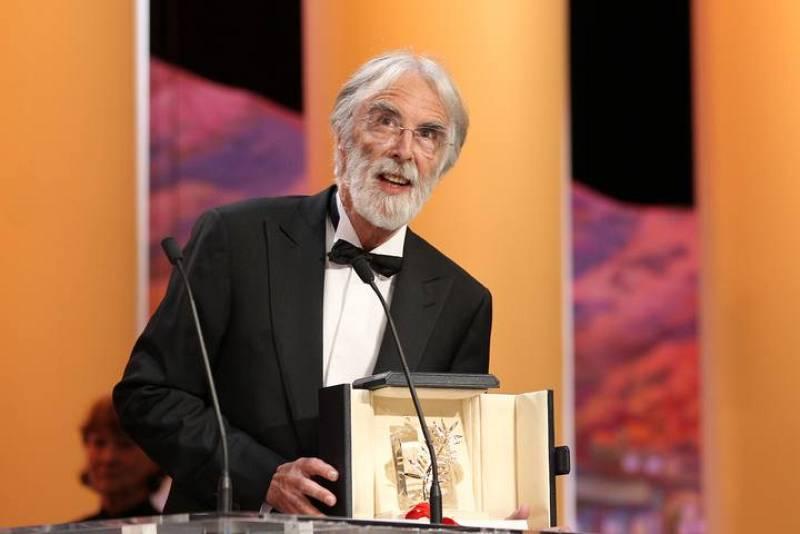 El director austriaco Michael Haneke recoge la Palma de Oro de Cannes por 'Amour'