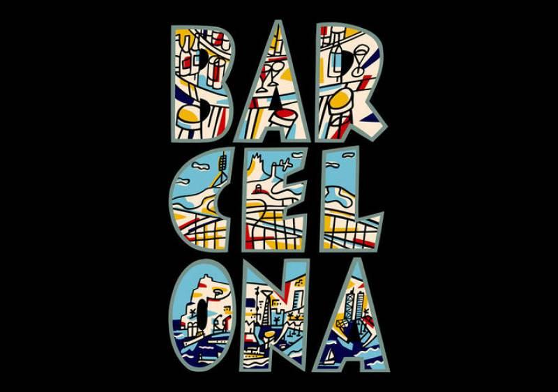 Logotipo 'Bar_cel_ona' (1979), la obra que dió a conocer a Javier Mariscal