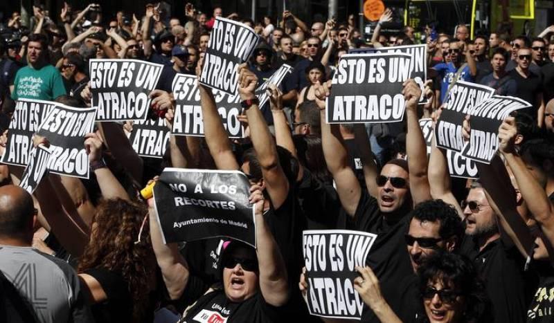 Manifestaciones de los funcionarios en Madrid