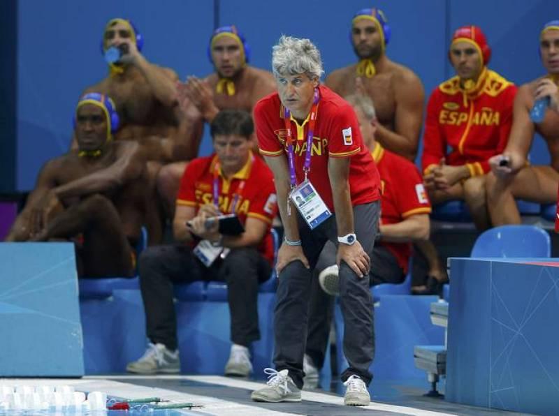 El entrenador Rafael Aguilar se ha mostrado satisfecho y tranquilo al ver el brillante partido del combinado español en su debut en Londres 2012.