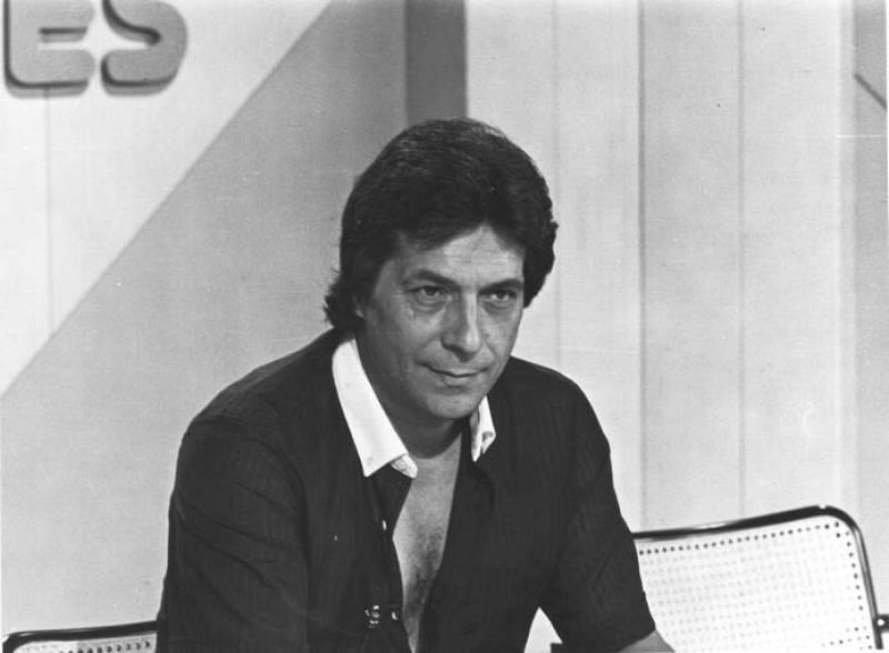 Foto de archivo de Sancho Gracia tomada en los estudios en Cataluña de TVE