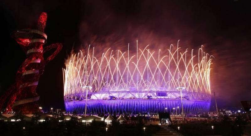 Los fuegos artificiales ponían punto final a la ceremonia de clausura de los Juegos de Londres 2012