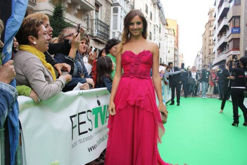 Michelle Jenner en el estreno de Isabel