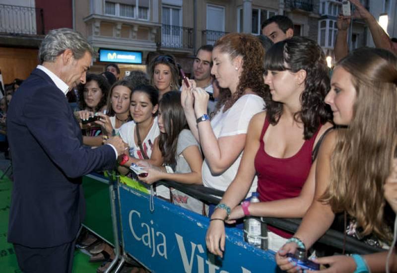El actor fue uno de los más aclamados por los fans en la alfombra verde del FesTVal.