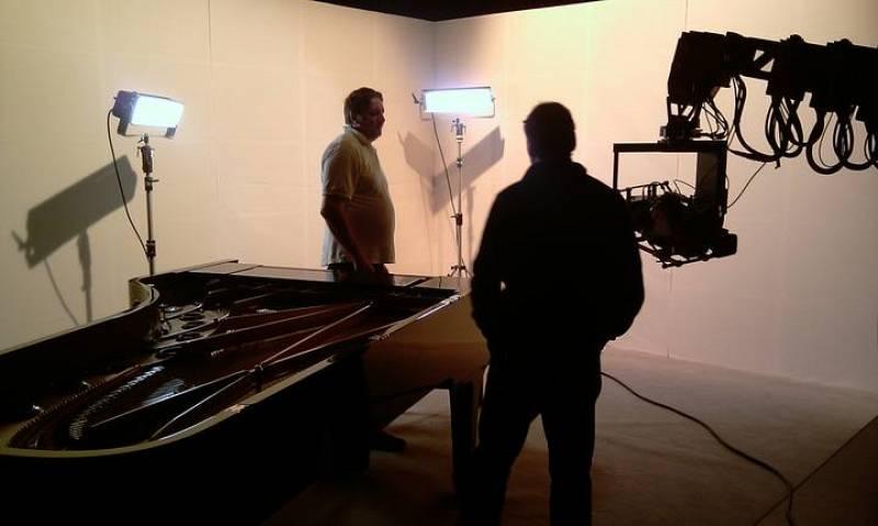 Grabación de piano en el estudio