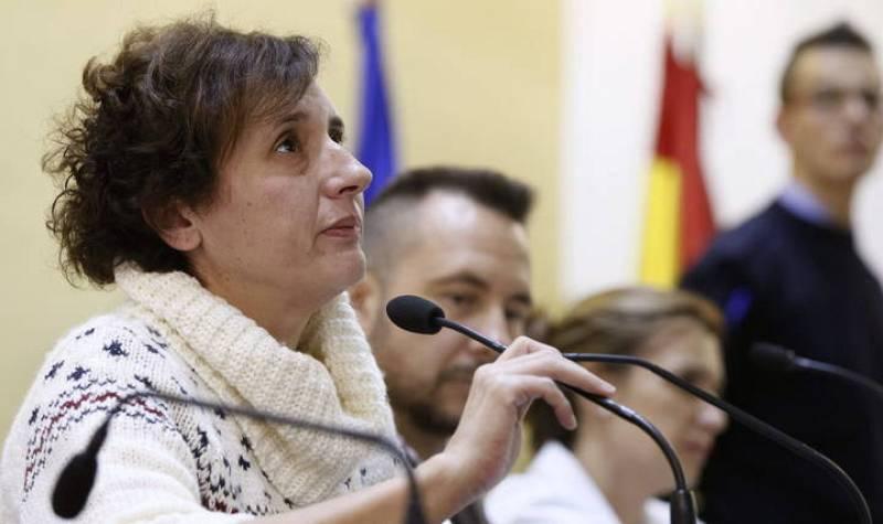 Teresa Romero durante su primera intervención ante los medios tras superar el ébola