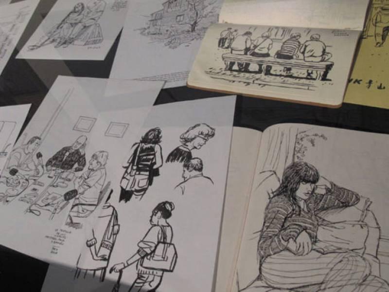 Los cuadernos de bocetos de Paco Roca