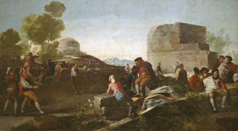 """Francisco de Goya, """"El juego de pelota a pala"""", (1779)"""