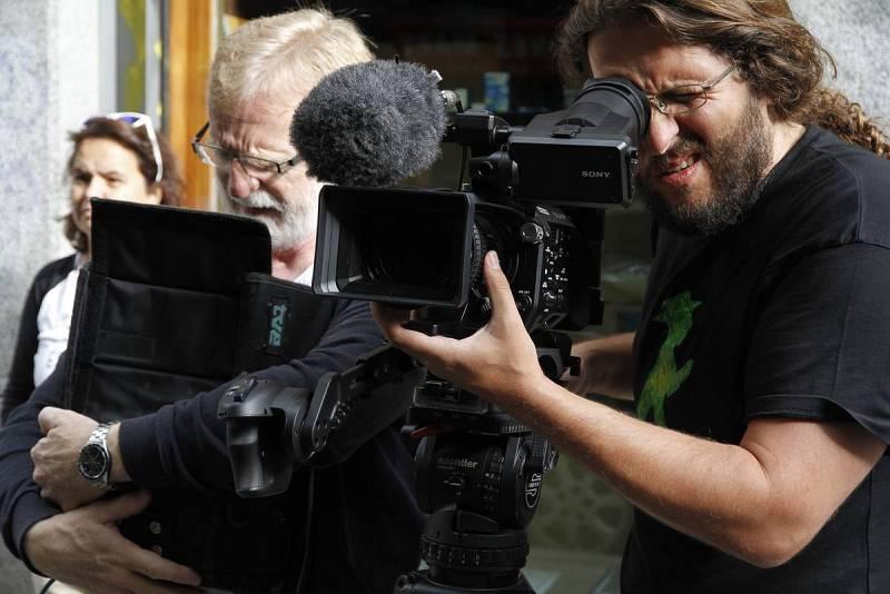 Grabación de un reportaje sobre el Rastro de Madrid en el curso de cámaras 4K impartido por el Instituto RTVE