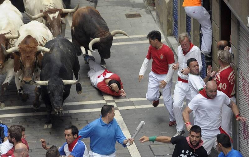 Los toros de la ganadería extremeña de El Tajo y La Reina se han estrenado en Pamplona