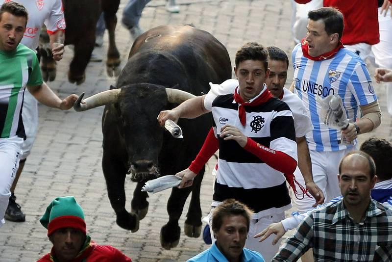 Los toros han salido muy veloces en el cuarto encierro de San Fermín