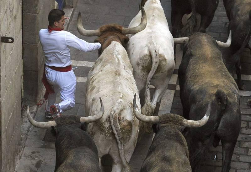 Los toros de Miura protagonizan el encierro máss rápido de San Fermín 2015