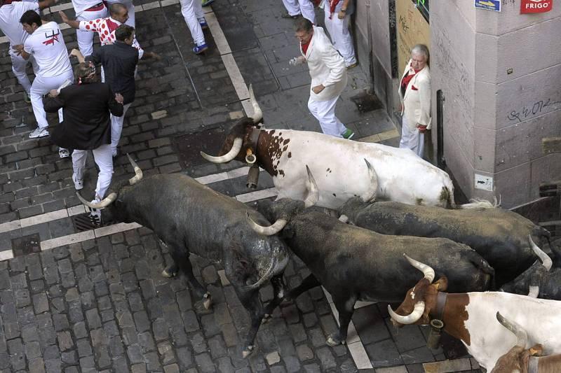 Los corredores han podido lucirse en el último encierro de San Fermín 2015