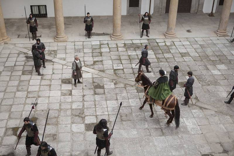 Carlos V llega a la Castilla