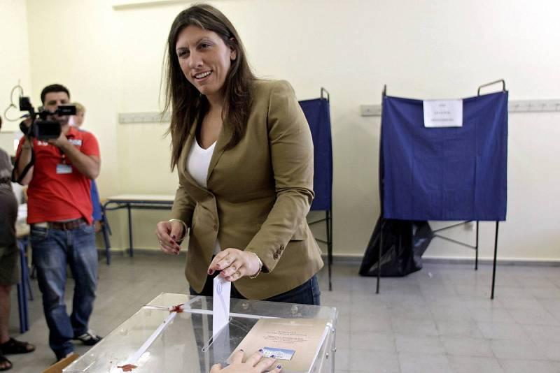 La portavoz del Parlamento griego, Zoe Konstantopoulou