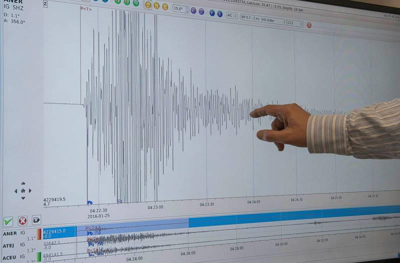 Gráfica que ha dejado el terremoto del Mar de Alborán esta madrugada