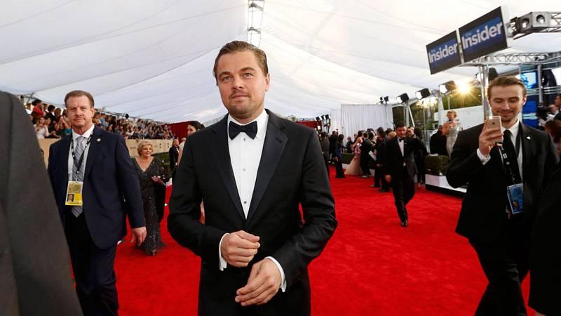 Leonardo DiCaprio entrando en el recinto donde se celebra el evento
