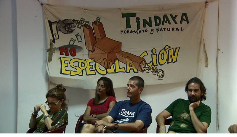 Asamblea de ecologistas en contra del proyecto de Tindaya