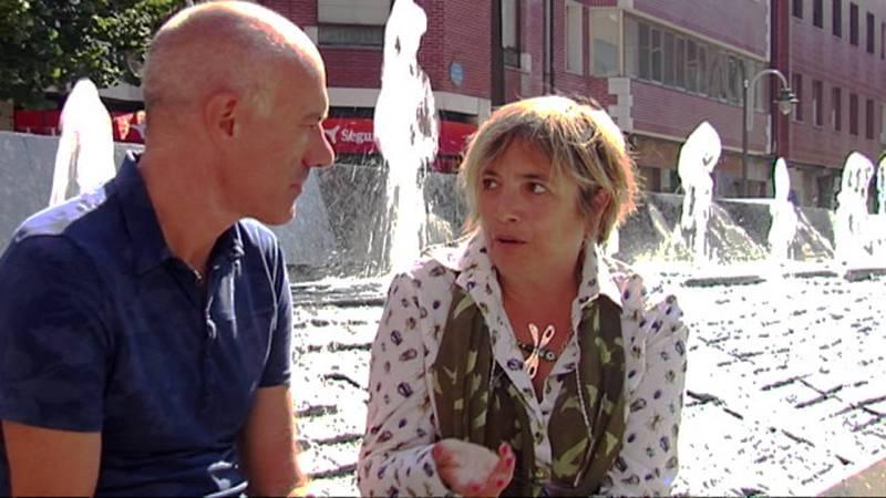 Karmele Herranz, psicóloga ambiental, en la plaza del General Latorre