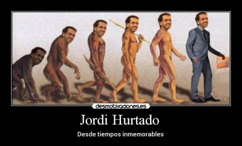 De Jordi Hurtado dicen que está siempre casi igual, la misma joven sonrisa sin apenas atisbo de cambio a lo largo de dos décadas...