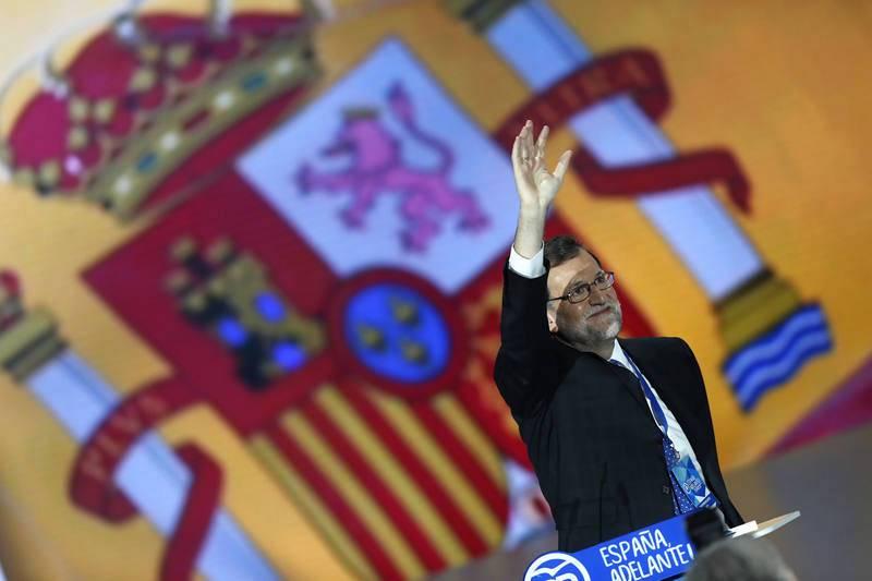 Rajoy saluda a los asistentes