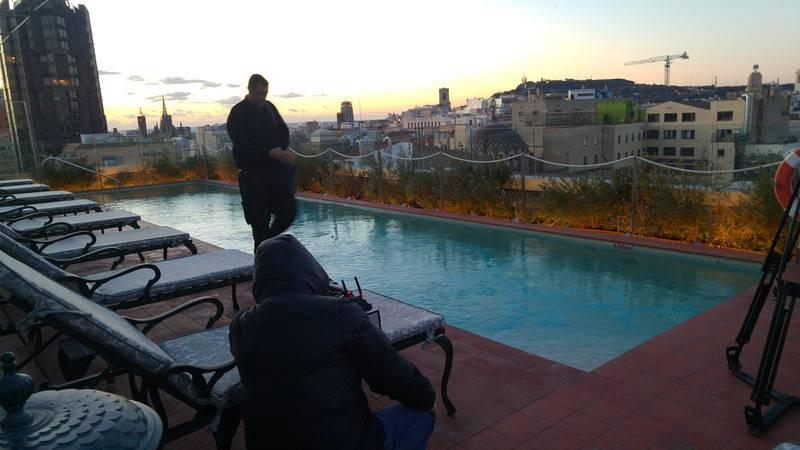 Sortida del sol a la piscina de El Palace