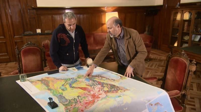 En el Instututo Geológico Minero nos muestran el mapa geológico de España