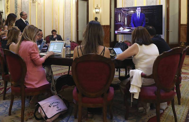 Rajoy ha intervenido para responder a la intervención de la portavoz de Podemos