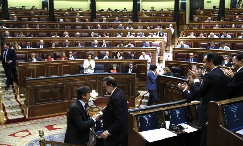 Rajoy, tras su intervención en la segunda jornada del debate