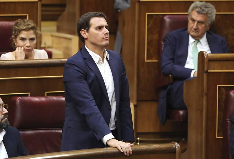 El líder de Ciudadanos Albert Rivera interviene en la segunda jornada del debate