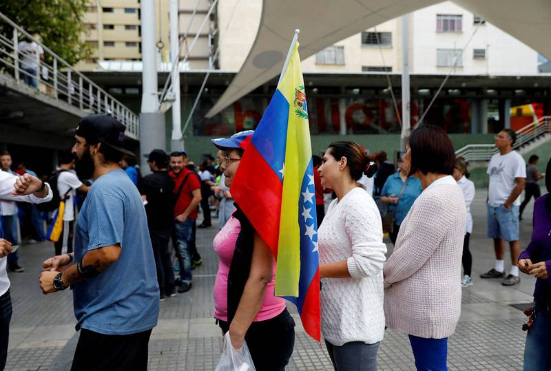 Imágenes del referéndum en Venezuela