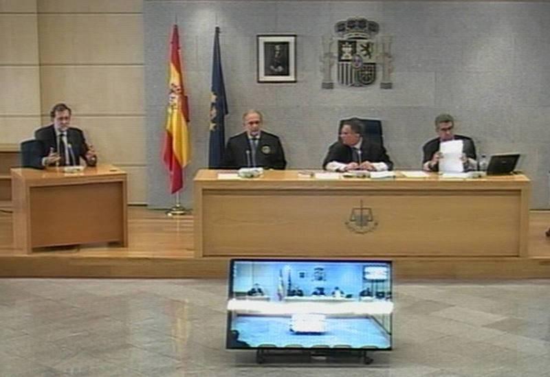 Mariano Rajoy, durante su intervención por el caso Gürtel
