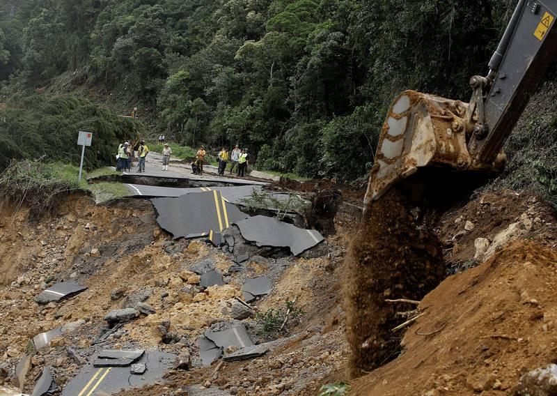 Carretera cortada en el sur de Costa Rica tras el paso de Nate